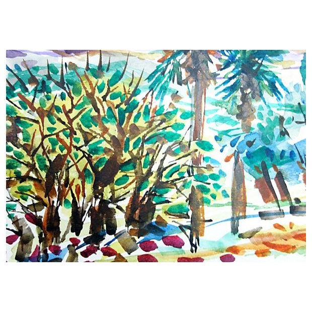 Palm Trees & Hills by Barbara Winkler - Image 3 of 3