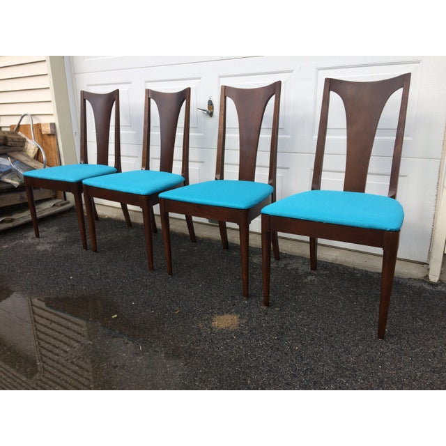 Broyhill Restored Walnut Chairs - Set of 4 - Image 4 of 8