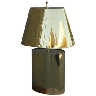 Curtis Jere Attributed Brass Table Lamp