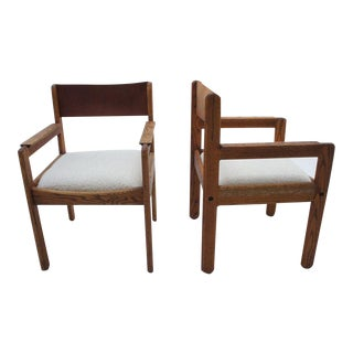 Leather & Boucle Dining Chairs- Set of 6