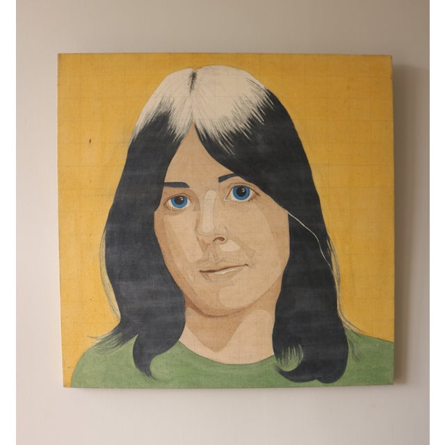 Image of Portrait of a Woman in the Style of Alex Katz