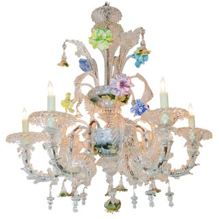 Antique Murano Glass Chandelier
