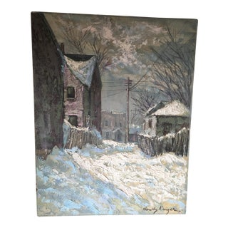 1940s Winter Landscape Painting