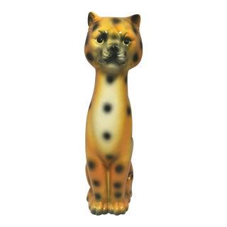 Vintage Japanese Ceramic Leopard Cat