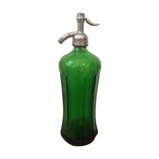 Vintage Green Glass Seltzer Bottle