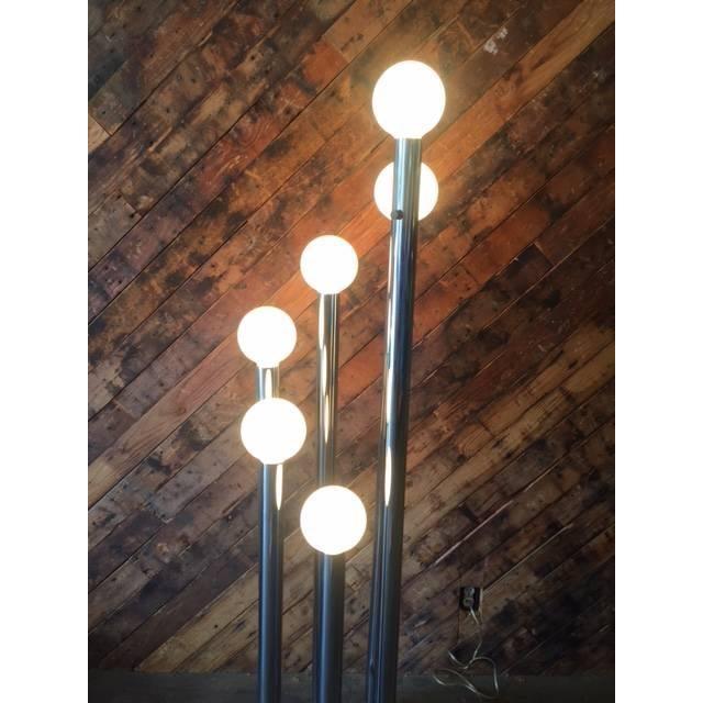 Image of Mid Century Chrome Cascading Floor Lamp