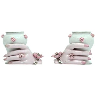 Holding Hands Vases - A Pair