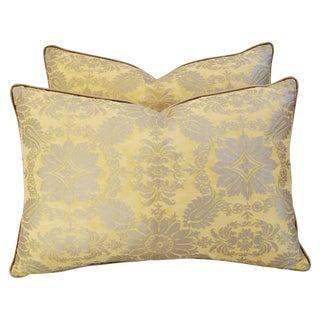 Italian Fortuny Impero Pillows - A Pair