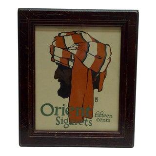 1903 Framed Journal Advertisement Orient Sigarets Fifteen Cents