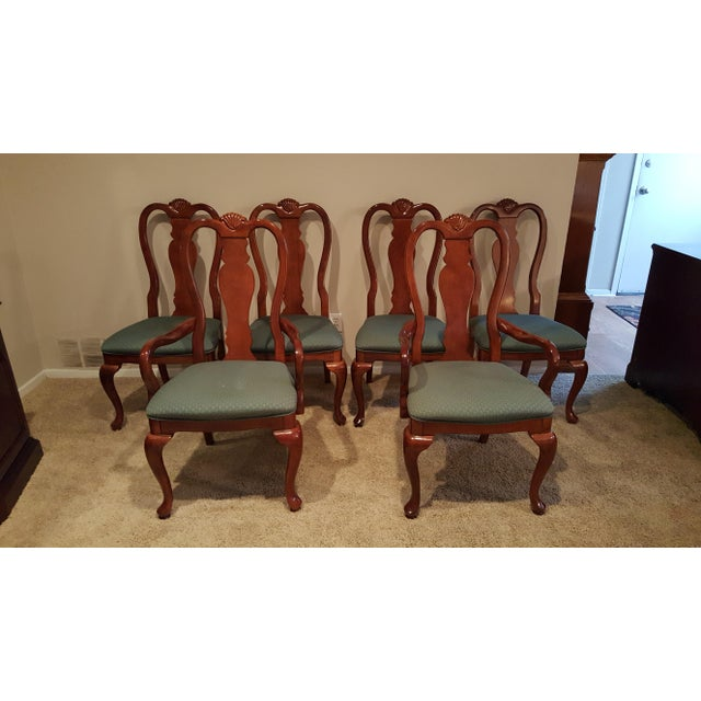 Image of Queen Anne Dining Chairs - Set of 6