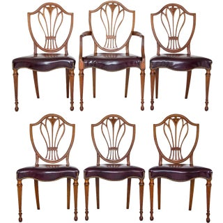 Federal-Style Shield Back Dining Chairs - Set of 6