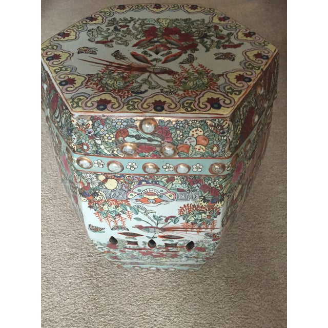 Antique Chinese Ceramic Polychrome Garden Seat - Image 9 of 9