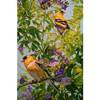 Finchs in Flowers