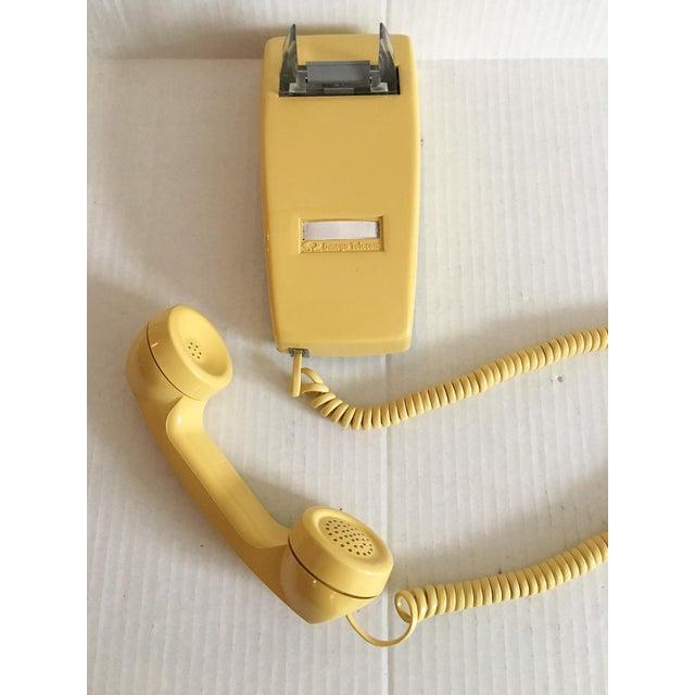 Vintage Yellow Wall Mount Telephone - Image 4 of 6