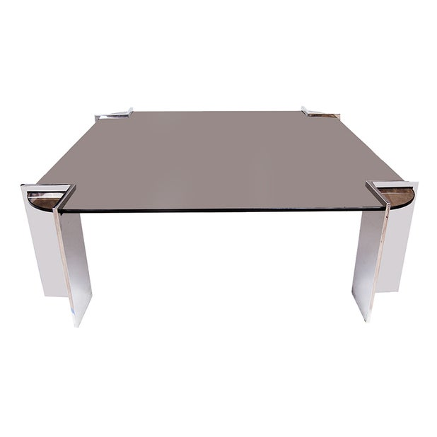 Leon Rosen for Pace Collection Chrome Coffee Table - Image 1 of 5