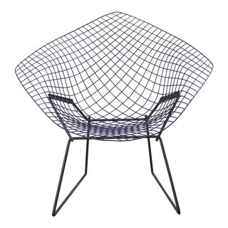 Harry Bertoia Mid-Century Black Diamond Chair