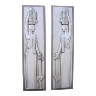 Pair of Wall Plaques from 1933 Worlds Fair Chicago