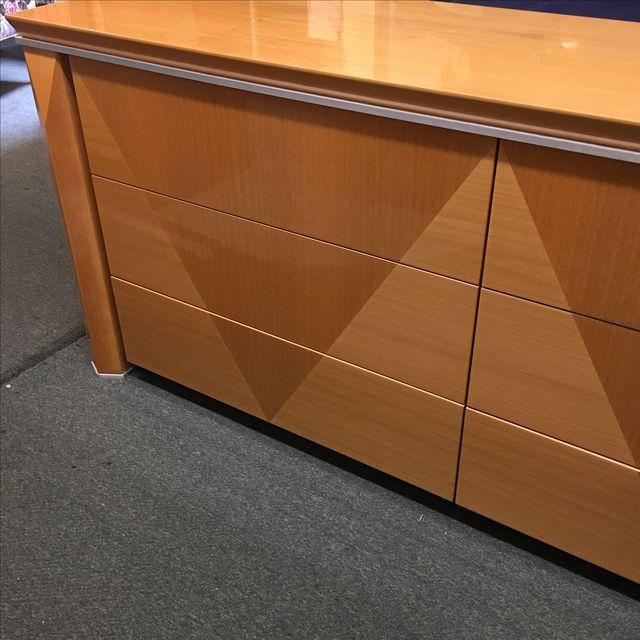 Giorgio Collection Parquet Dresser with Mirror - Image 5 of 10