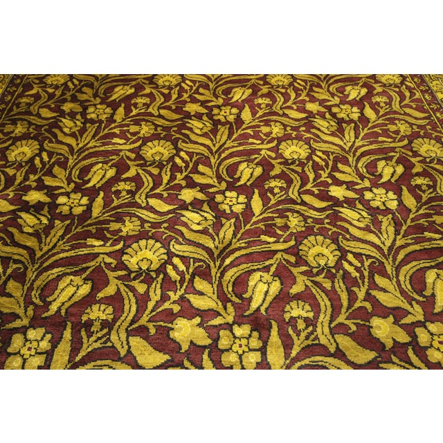 "Suzani Collection Oushak Floral Rug - 6'2"" x 8'10"" - Image 7 of 10"