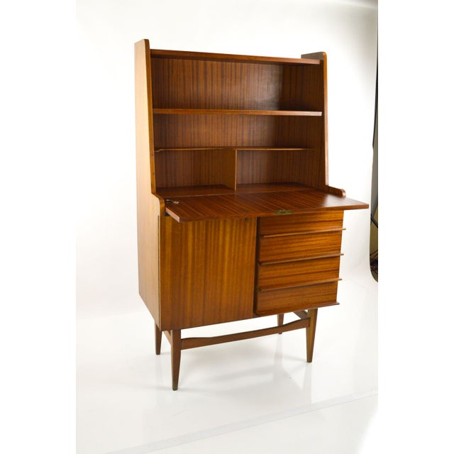 Modern Danish Style Teak Cabinet With Drop Front - Image 3 of 10