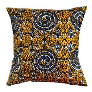 Heirloom African Wax Print Pillows - a Pair