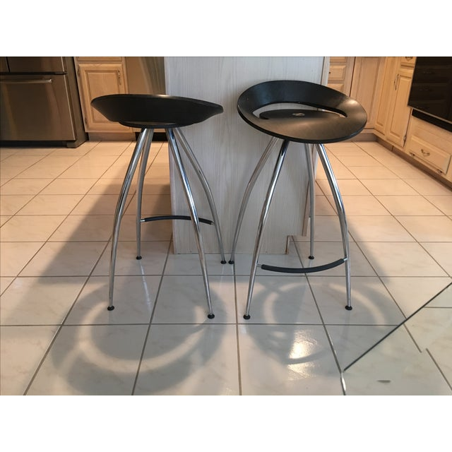 Magis Lyra Italian Bar Stool Seats Pair Chairish