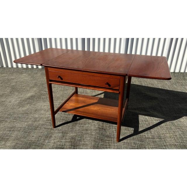 Danish Modern Hans Wegner Sewing Table A33 - Image 2 of 7