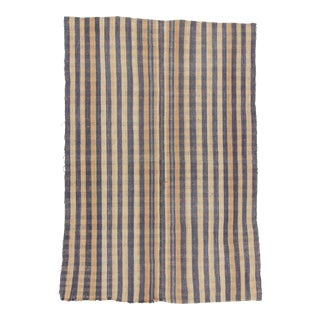 Handwoven Cotton Turkish Kilim - 6′4″ × 9′4″