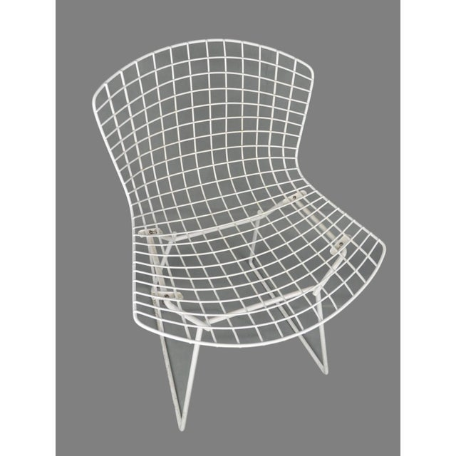 Bertoia for Knoll Vintage White Chairs - Set of 4 - Image 4 of 8