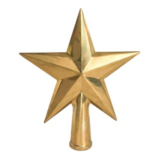 Solid Brass Star Tree Topper