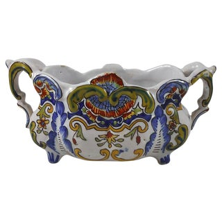 French Desvres Faience Jardinière