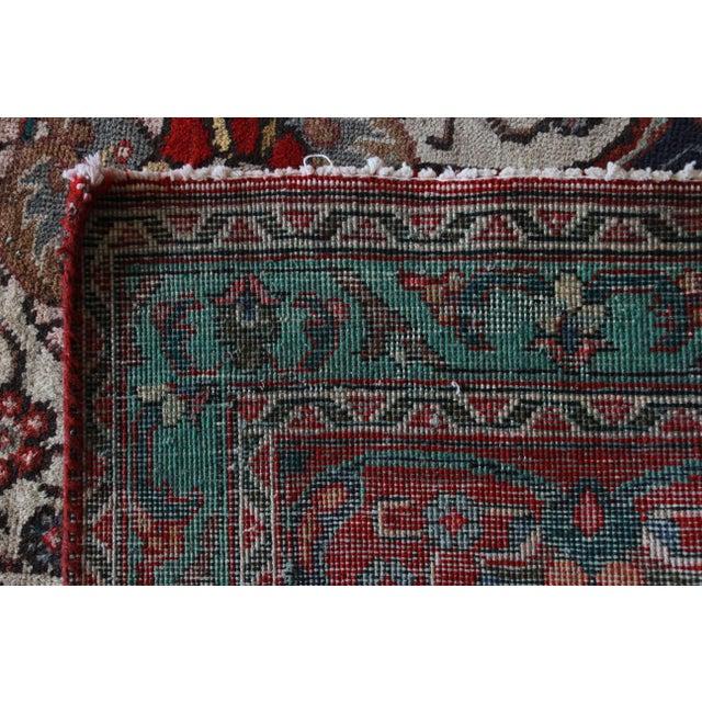 Vintage Hand-Woven Persian Tabriz Rug - 9′10″ × 12′5″ - Image 8 of 8