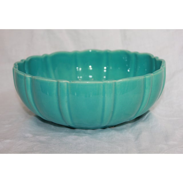 Image of Franciscan Ceramics Turquoise Salad Bowl