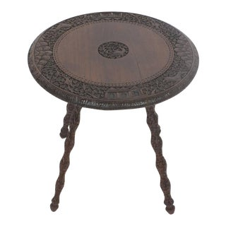 Round Rosewood Anglo-Indian Table