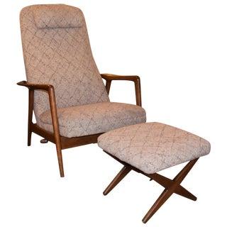 Folke Ohlsson Mid-Century Chair & Ottoman