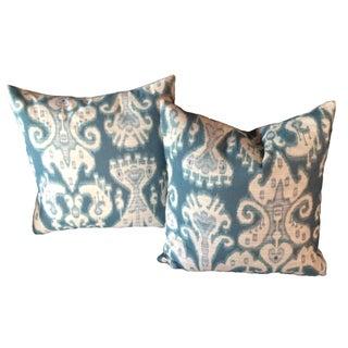 "Kravet Ikat 20"" Pillows - Pair"