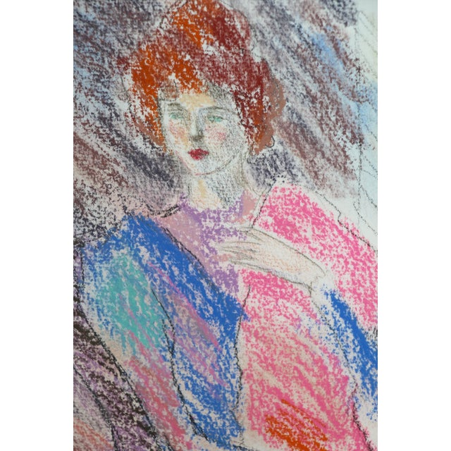 Framed Chalk Pastel Portrait by Dianne Powell - Image 4 of 6