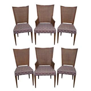 Widdicomb Mid Century Cane Back Dining Chairs - 6