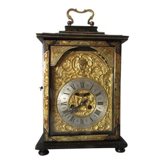 Antique Continental Japanned Table Clock