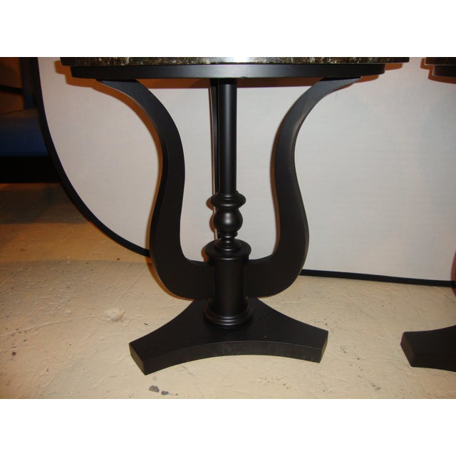 Art Deco Ebony Based End Tables - A Pair - Image 4 of 9