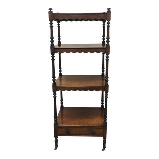 19th Century English Rosewood What-Not Etagere