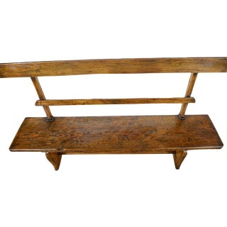 19th Century Rustic French Pine Farm Bench