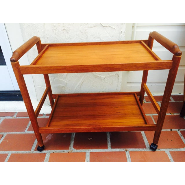 Image of Dyrlund Style Mid-Century Teak Bar Cart