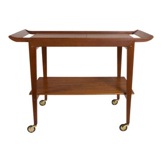 Tove and Edvard Kindt-Larsen Modern Danish Serving Tea Cart