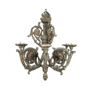 Baroque Painted and Parcel Gilt Chandelier