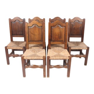 French Walnut Dining Chairs - Set of 6