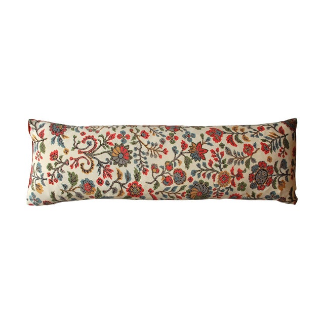 Japanese Vintage Silk Print Textile Pillow - Image 1 of 4