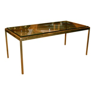 Scope Bronze & Glass Cocktail Table