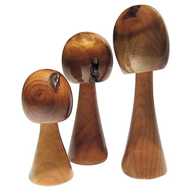 Mid-Century Stylized Wood Trees - Set of 3 - Image 4 of 6