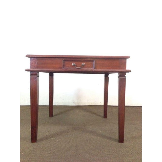 Image of Vintage Carved Mahogany Games Table Suite